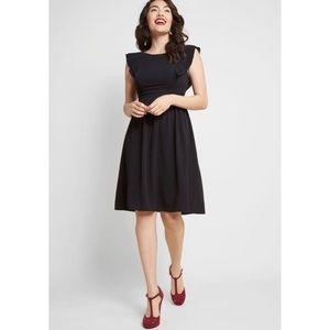 ModCloth Fervour Joy To Be Blissful Black Dress S